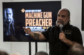 Sam Childers, The Machine Gun Preacher, speaking - free event