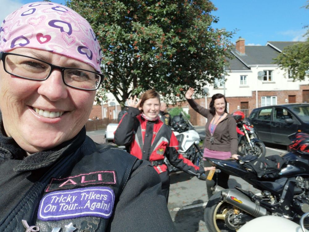 Abigail Winter and Shirley Douglas at the Co Armagh Ride for the Wall run,