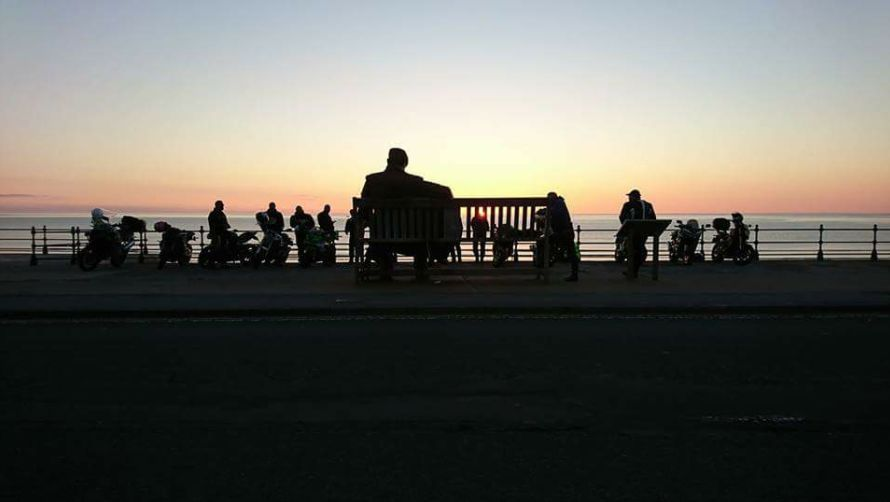 A few of the CSB in Scarborough watching the sun rise after doing the epic