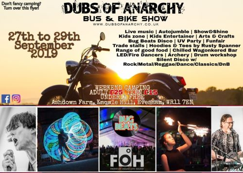 Dubs of Anarchy, Biker event, September, Worcestershire, 2019