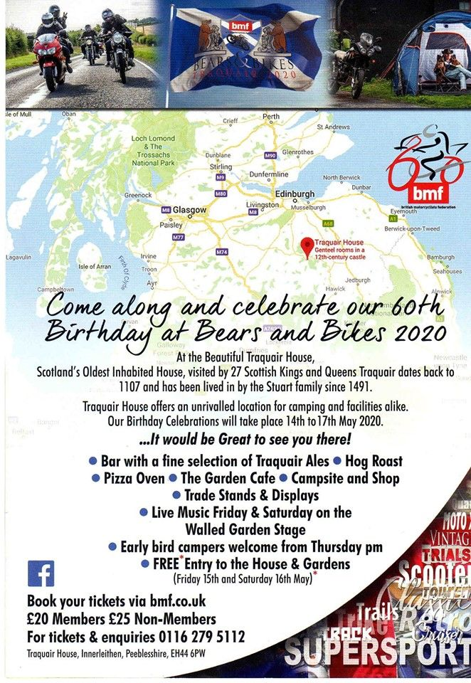 Bears and Bikes - BMF Birthday in the Borders, 14th - 17th May 2020, Traqua