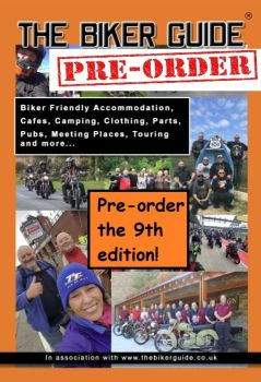 1 of - THE BIKER GUIDE booklet - Pre-order the 9th edition - FREE (P&P £1.75 UK)
