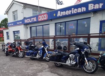 Route 303, Bikers welcome, Cornwall, American diner