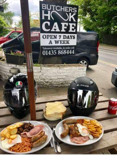 Butchers Hook Cafe, Bikers Welcome, East Sussex