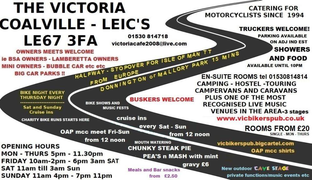 Victoria Bikers Pub, Coalville, Leicestershire, Midlands