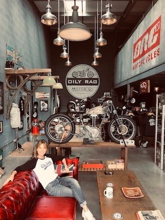 Oily Rag Co, British moto inspired clothing company, Gloucestershire, coffe