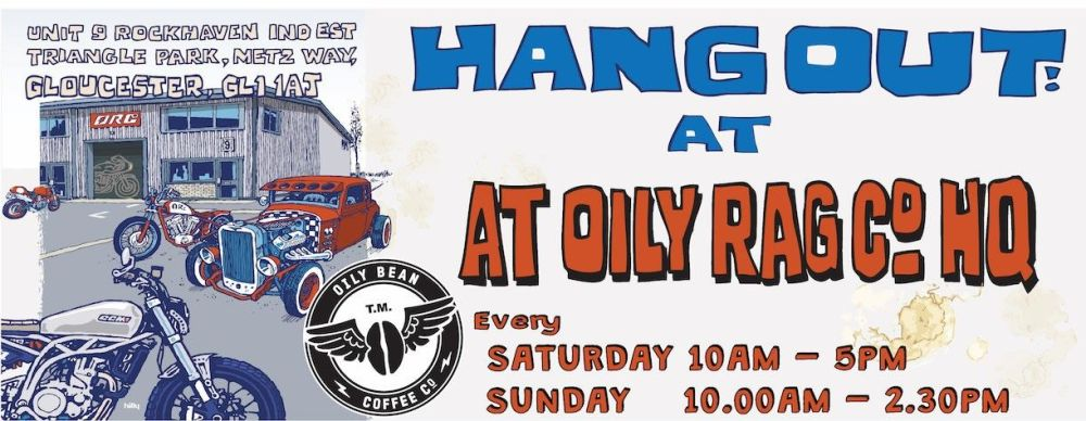 Oily Rag Co, coffee bar, Gloucestershire, Bikers