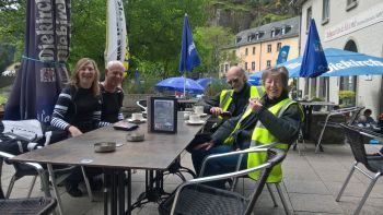 Solent Motorbike Tours, Vosges Mountains B500 Tour, Coffee in Luxemburg