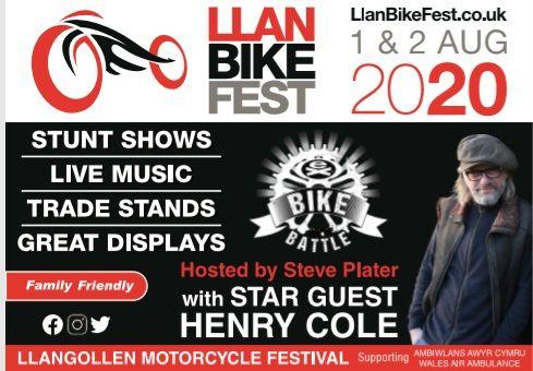 Llan Bike Fest 2020, Llangollen Motorcycle Festival