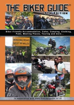 1 of - THE BIKER GUIDE® booklet - 9th edition with car + stick on, stickers (P&P £2.85 UK)