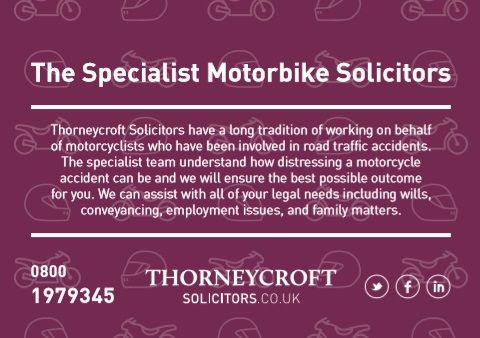 Thorneycroft Solicitors, motorbike specialist, accidents, personal injury