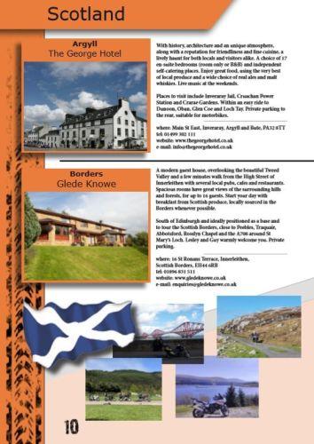 THE BIKER GUIDE - 9th edition, Biker Friendly Accommodation, Scotland