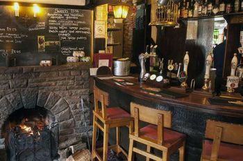 The Greyhound Inn Hotel, Biker Friendly, bar, Usk, Monmouthshire, South Wal