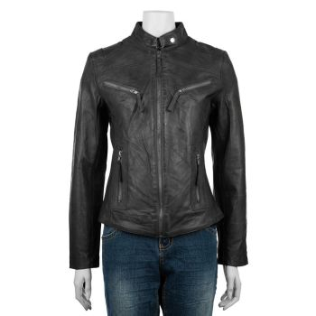 Woodland Leathers, Ladies Classic Biker Jacket