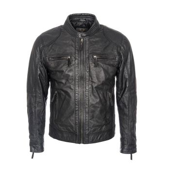 Woodland Leathers, Men's Perforated Biker Jacket,