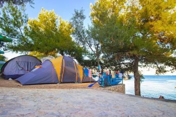 Camping Labadusa, Biker Friendly Campsite, Ciovo, Croatia, Beach