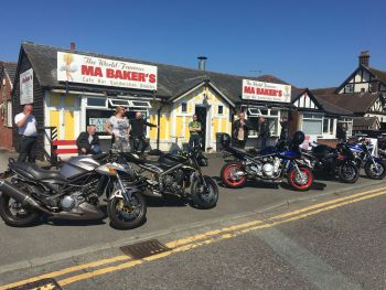 MA Bakers Cafe, Bikers Welcome, Whitchurch, Shropshire