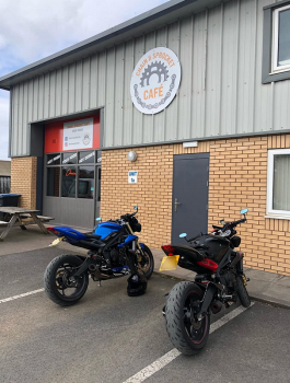 Chain Sprocket Cafe, Bikers Welcome, Ruthin, Denbighshire, North Wales