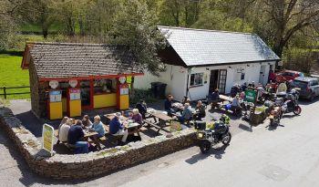 Withypool Tea Room, Biker Friendly, Exmoor, Somerset