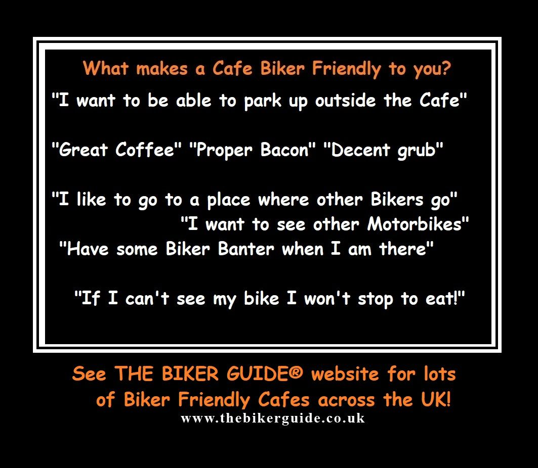 What makes a Cafe Biker Friendly to you - THE BIKER GUIDE