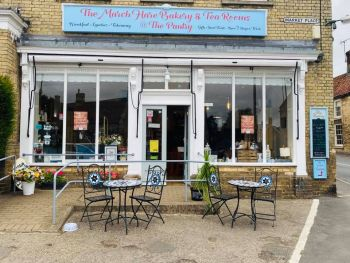 The March Hare Tearooms, Bikers Welcome, Corby Glen, Lincolnshire,
