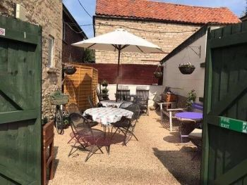 The March Hare Tearooms, Bikers Welcome, Corby Glen, Lincolnshire