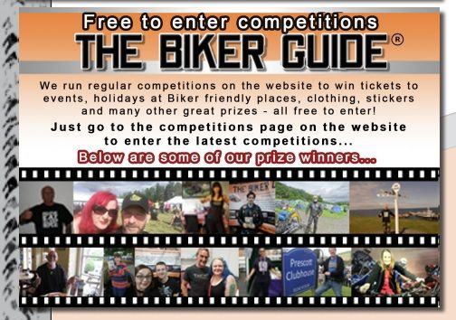 Free to enter Competitions, THE BIKER GUIDE, prize winners