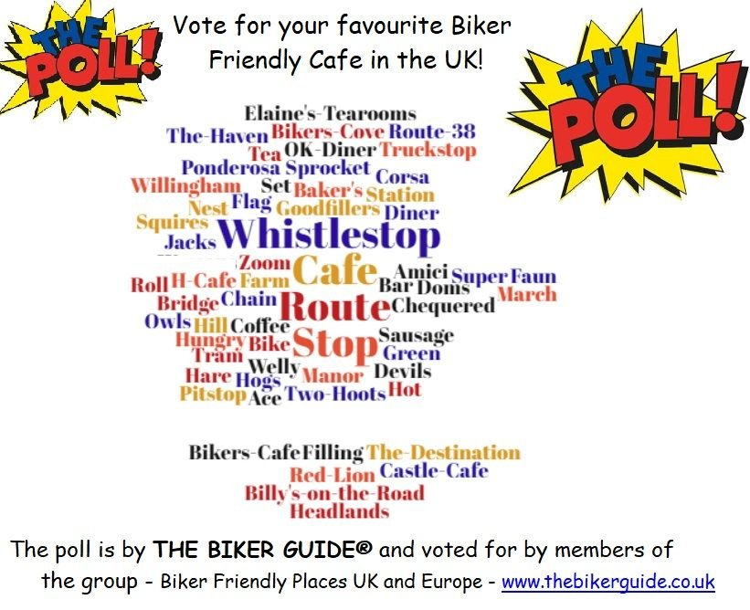 Vote for your favourite Biker Friendly Cafe in the UK!