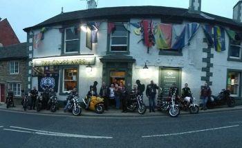 The Cross Axes, Bikers Welcome, Great Harwood, Blackburn, Lancashire