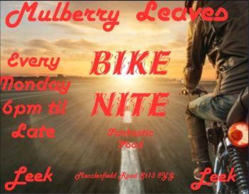 Mulberry Leaves, Bike night Monday, Leek, Staffordshire