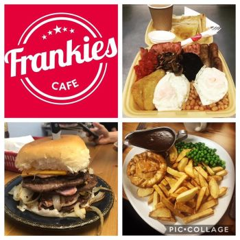 Frankies Cafe, Bikers Welcome, Driffield, East Yorkshire, food