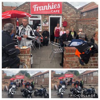 Frankies Cafe, Bikers Welcome, Driffield, Yorkshire