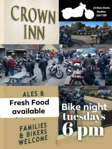 The Crown Inn, Bike Night Tuesday, Leicestershire