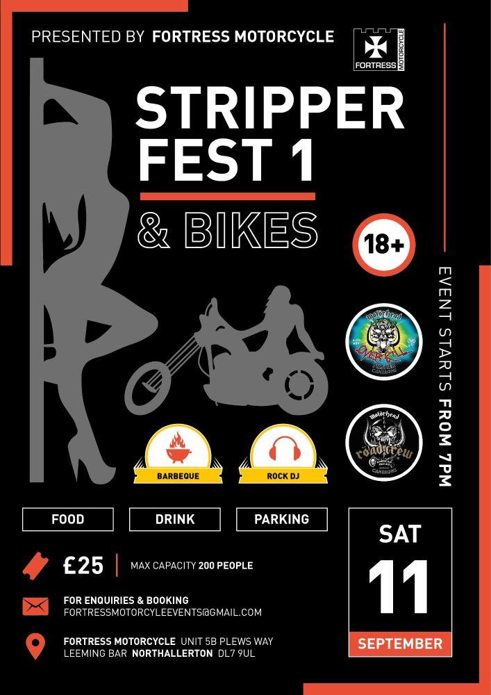 Stripper Fest and Bikes, Northallerton, Yorkshire