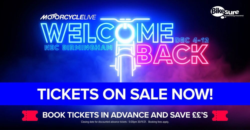 Welcome Back and come in to Motorcycle Live 2021!