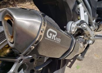 GRmoto Exhausts, plug-and-play exhaust systems, more power, unique sound