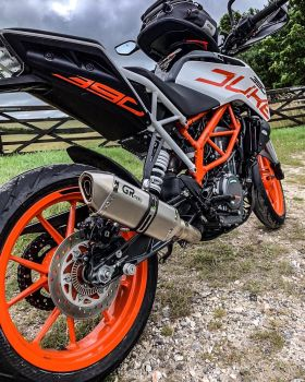 GRmoto Exhausts, plug-and-play exhaust systems, more power, unique sound,