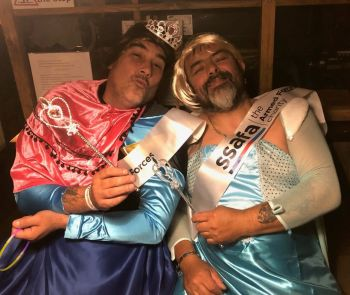 Frozen motorcycle duo let it go for SSAFA - Spoons and Woolie at the GEMc