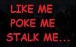 <!-- 004 -->LIKE ME POKE ME STALK ME... Vest