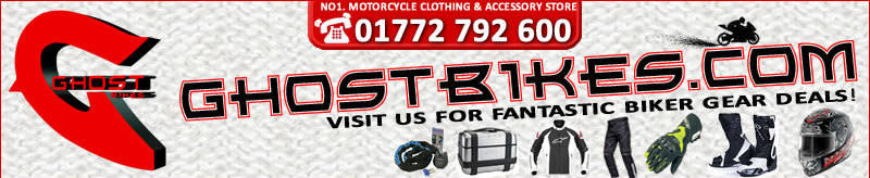Ghost Bikes, motorcycle clothing, accessories, Helmets, Thermals, Luggage
