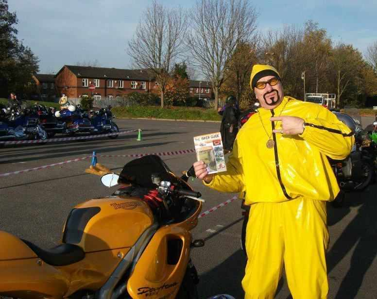 THE BIKER GUIDE booklet @ the Salvation Army Toy Run 2011 - with Ali G!