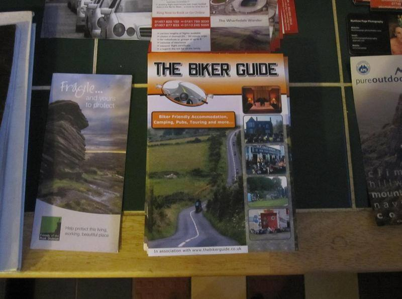 THE BIKER GUIDE booklet @ Grindleford Cafe