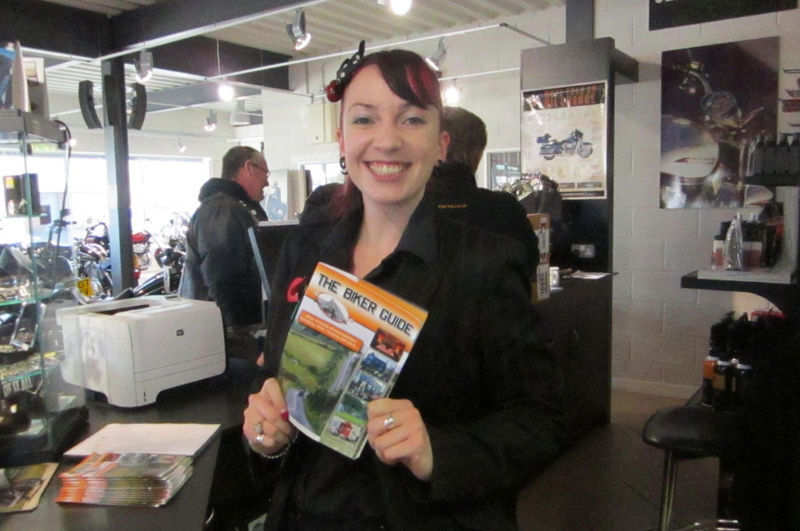 THE BIKER GUIDE booklet @ Chester Harley-Davidson