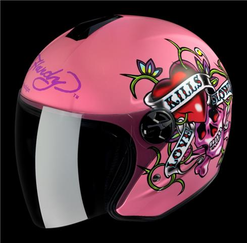 Ed Hardy Love Kills Slowly Helmet