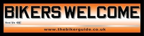 BIKERS WELCOME Banner