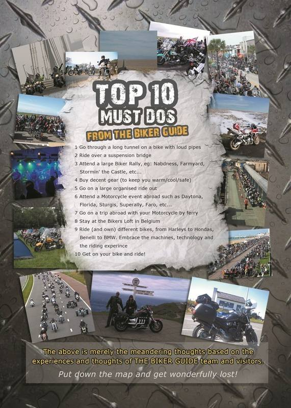 THE BIKER GUIDE - 2nd edition, booklet, top ten