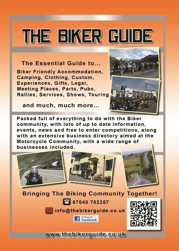 THE BIKER GUIDE - 2nd edition, booklet sample pages - back cover