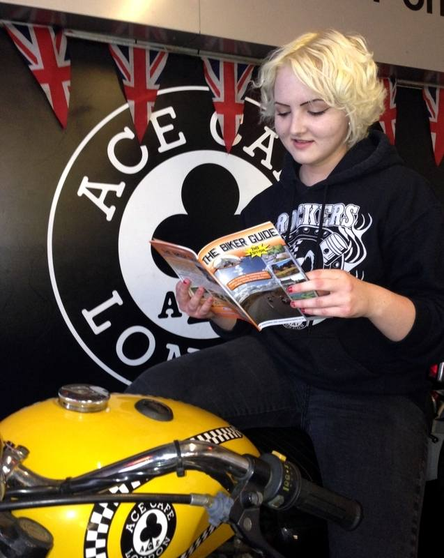 THE BIKER GUIDE booklet @ Ace Cafe, London