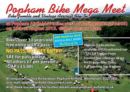 Popham Megameet and Bike Jumble, Winchester, Hampshire, 2015