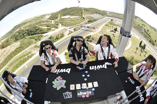 Sky's the Limit, MotoGP Riders Playing Poker in the Sky